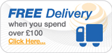 Free delivery when you spend over £100